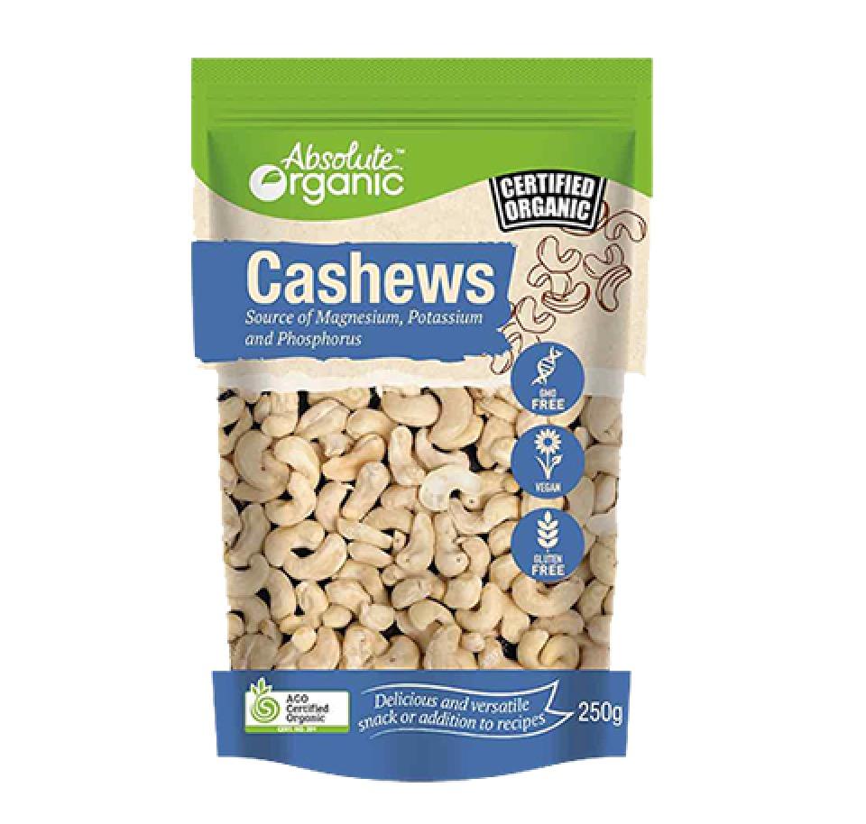 Savoury Snacks Ripe N Raw Organics Ogm Pit Bike Nuts Cashews 250gm